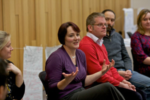 Lindsey Gibb leading the workshop (Image: Lindsay Perth)