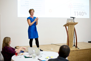 Louise Valentine sharing insights from Nesta funding process (Image by Lindsay Perth)
